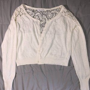 dELiA*s Cropped Lace Back Cover up